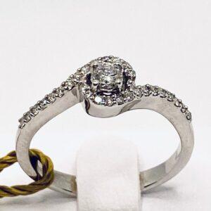 Anello solitario con diamanti art.AN1377