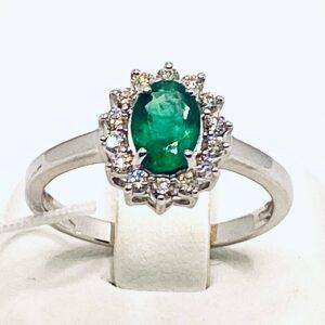 Anello smeraldo e diamanti art.135022